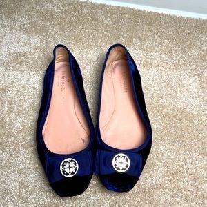 Kate Spade Navy Velvet Flats size 8